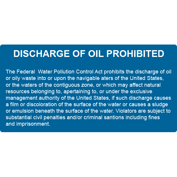 Discharge Of Oil